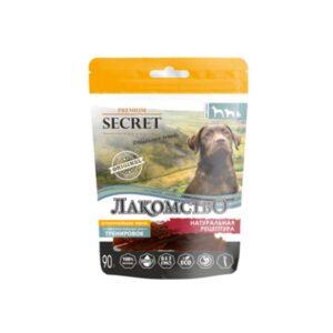 Лакомство Секрет для собак утиные дольки 90 гр
