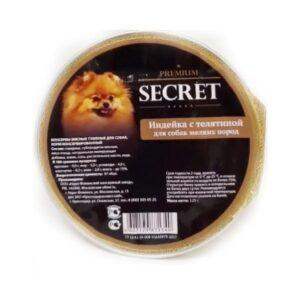 Секрет Премиум консервы для собак мелких пород индейка с телятиной (ламистр.) 125 гр