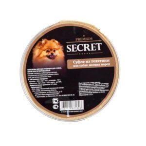 Секрет Премиум консервы для собак мелких пород суфле из телятины (ламистр) 125 гр