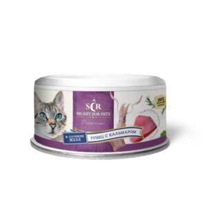 Секрет Премиум консервы для кошек тунец с кальмаром в желе
