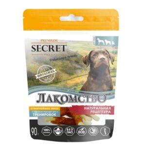 Лакомство Секрет для собак кальциевая косточка с курицей
