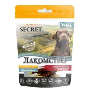 Лакомство Секрет для собак кальциевая косточка с уткой