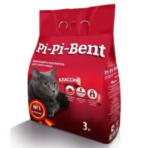 Pi-pi-bent наполнитель сlassic комкующийся полиэтилен 3 кг