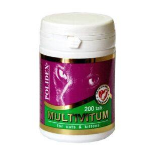 Витамины полидекс мультивитум для кошек 200