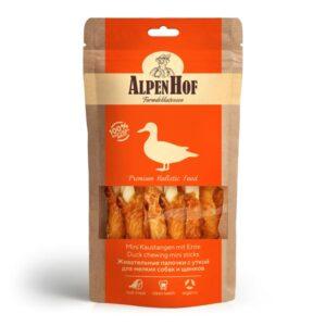 Лакомство AlpenHof жевательные палочки с уткой для мелких собак и щенков