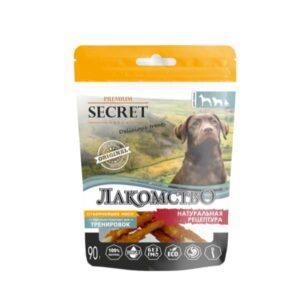 Лакомство Секрет для собак куриные палочки крученые 90 гр